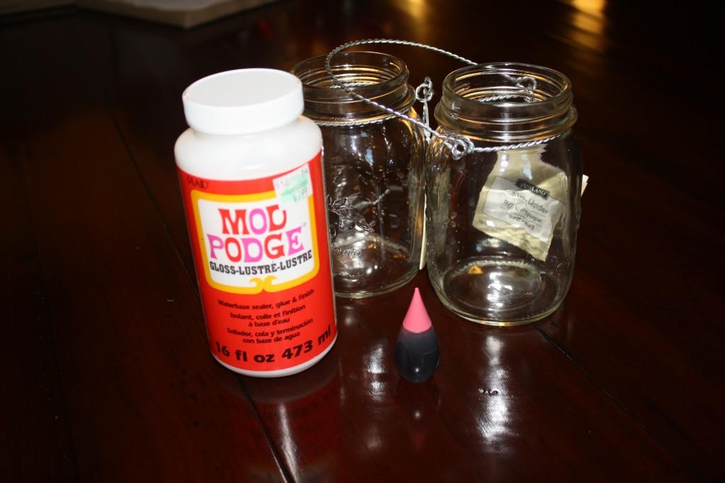 Pink Vintage Mason Jar Materials