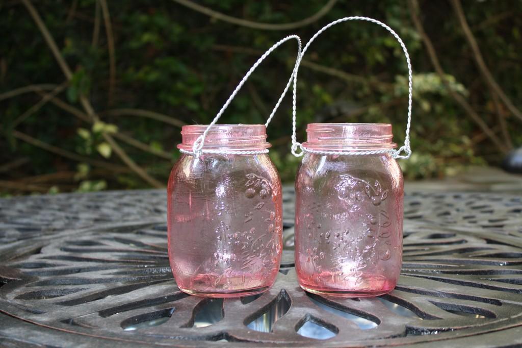 Pink Vintage Mason Jars